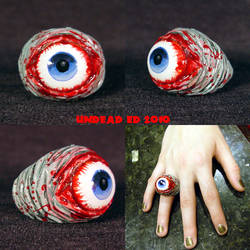 Rot Ring Blue Zombie evil eye
