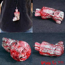 Rot Pendant Left Foot ooak