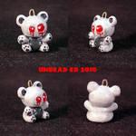 Ghost Bear Charm ooak jewelry
