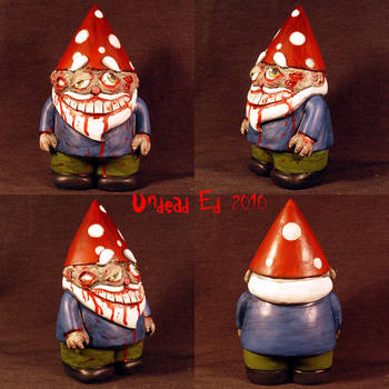 Njord The Zombie Gnome ooak by Undead-Art