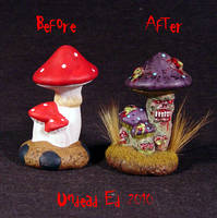 Mushroom Rot ooak compare by Undead-Art