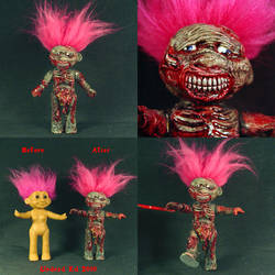 Toby The Zombie Troll ooak by Undead-Art