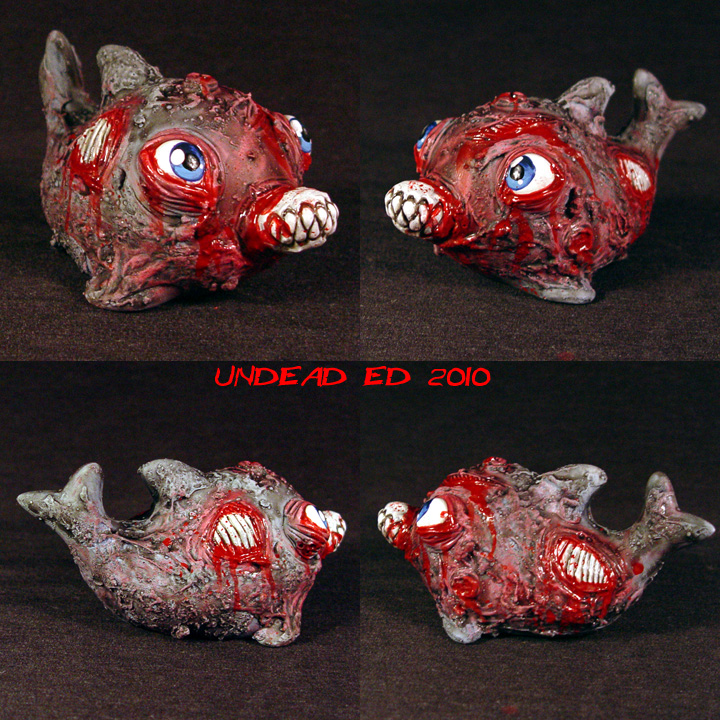 Zombie Dolphin ooAK by Undead-Art