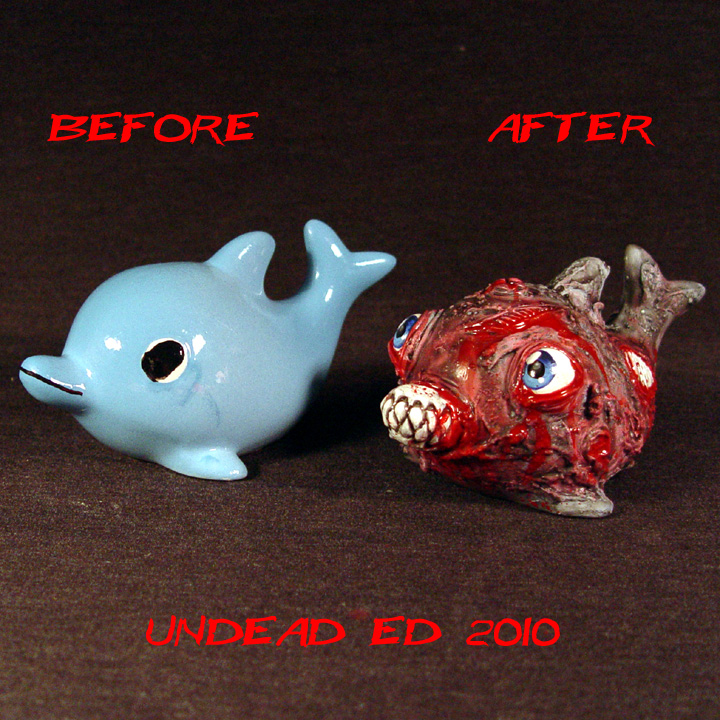 Zombie Dolphin ooak Compare by Undead-Art