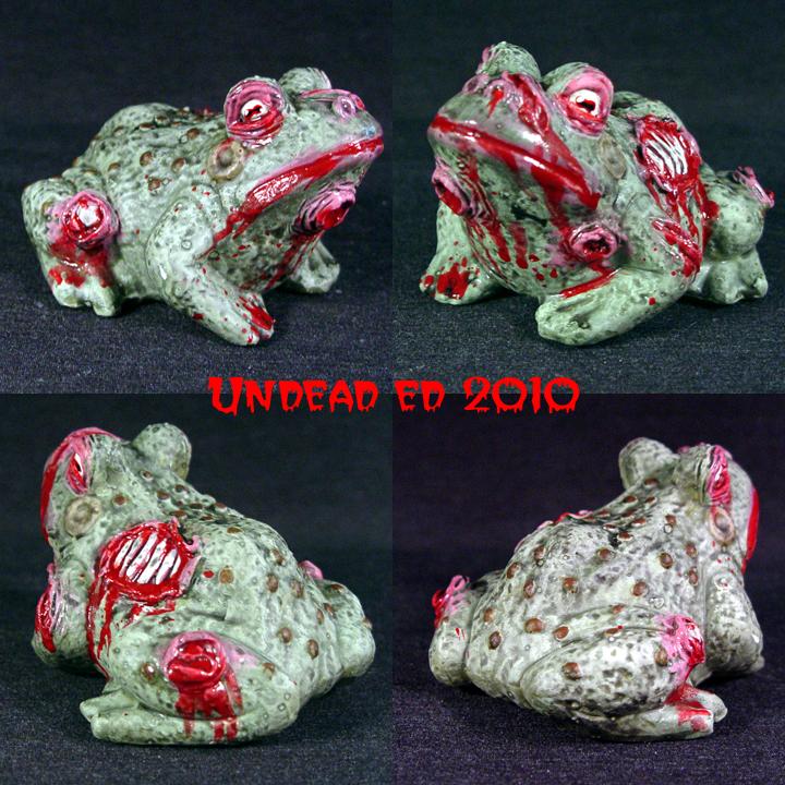Zombie Toad ooak figurine by Undead-Art