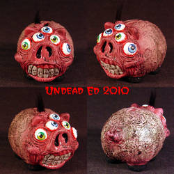 Rot Crazy Eyes Piggy Bank by Undead-Art