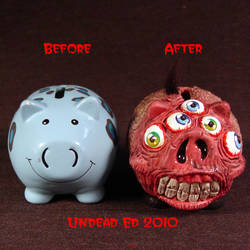 Rot Crazy Eyes Piggy Bank comp by Undead-Art