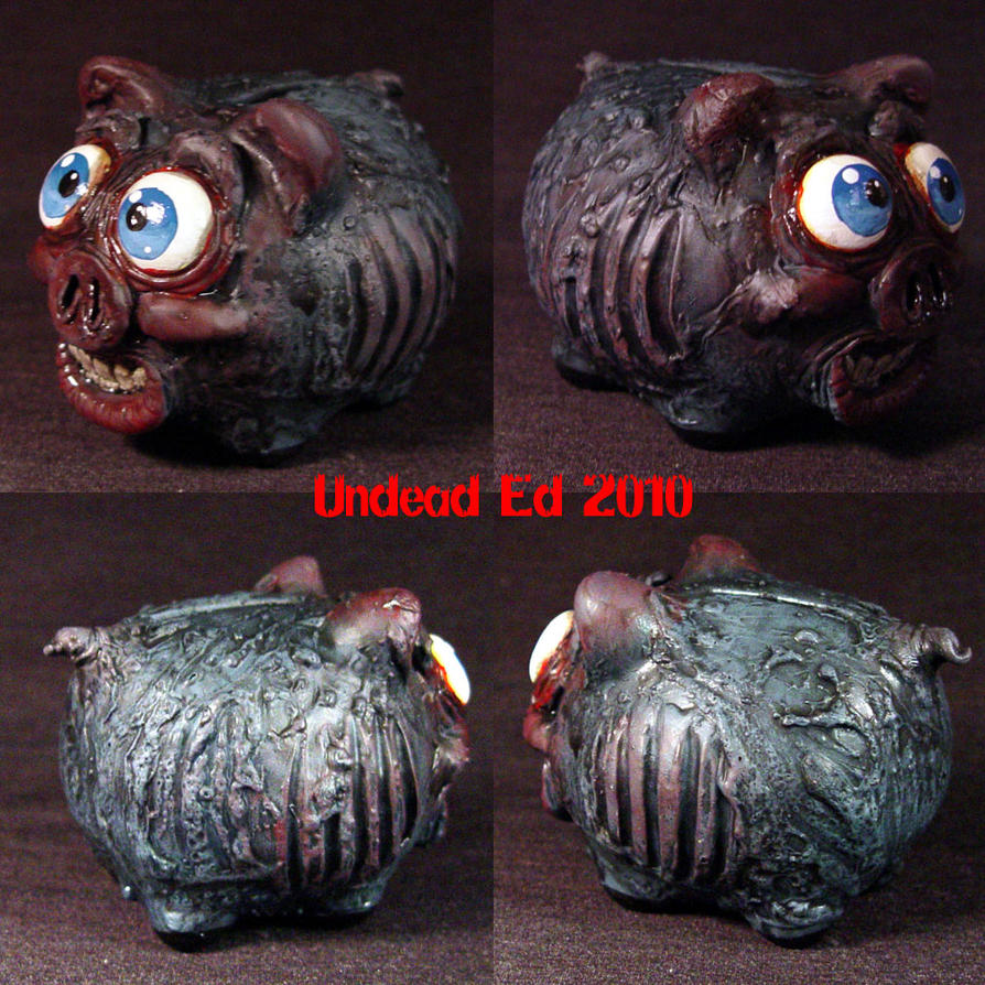 Rot Piggy Undead Bank OOAK by Undead-Art