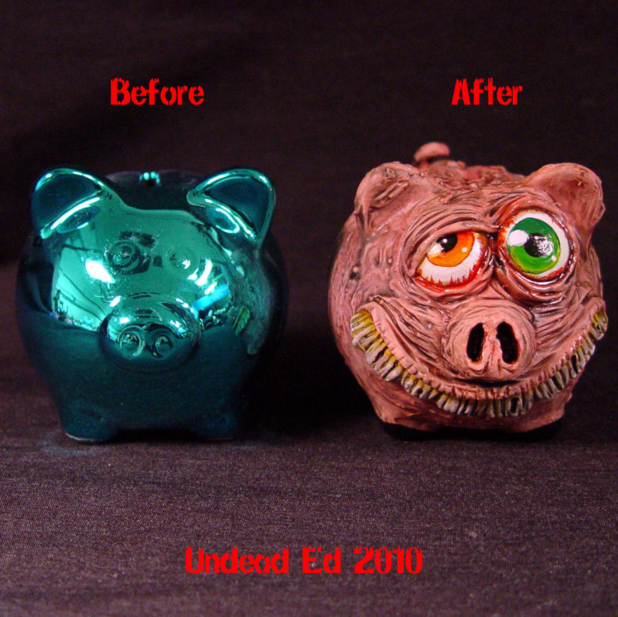 Rot Piggy Silly grin Bank comp by Undead-Art