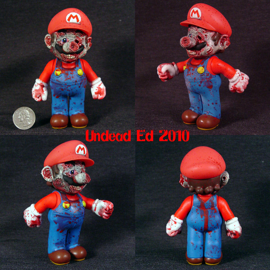 Large Zombie Mario nintendo by Undead-Art