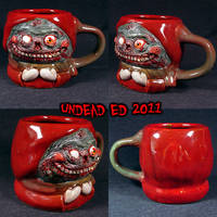 MUG Snowday Zombie kid by Undead-Art
