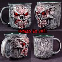 Pure Evil Deluxe Mug ooak by Undead-Art