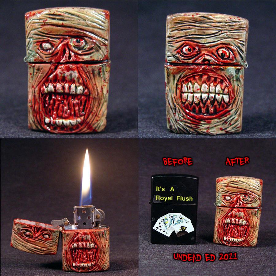 Zombie Zippo Lighter ooak by Undead-Art