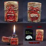 Zombie Zippo Lighter ooak