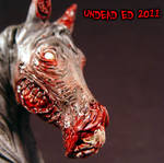 Chasity Zombie Horse Bust ooak