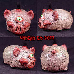 Freaky Piggy Bank Mr. Wiggles by Undead-Art