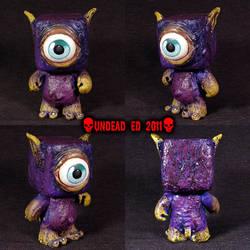 Purple Monster Gremlin OOAK on by Undead-Art