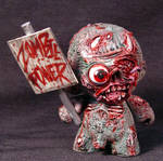 Munny Zombie with Zombie  Kid Robot OOAK
