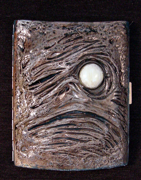 Necronomicon Cigarette Case OOAK by Undead-Art