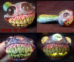 Alien Xenotrilops Heavy Hand Blown Converted Glass