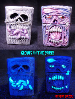 Glow In Dark Skull and Zombie Zippo Lighter