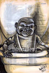 Original Dictionary Painting The Ghoulies