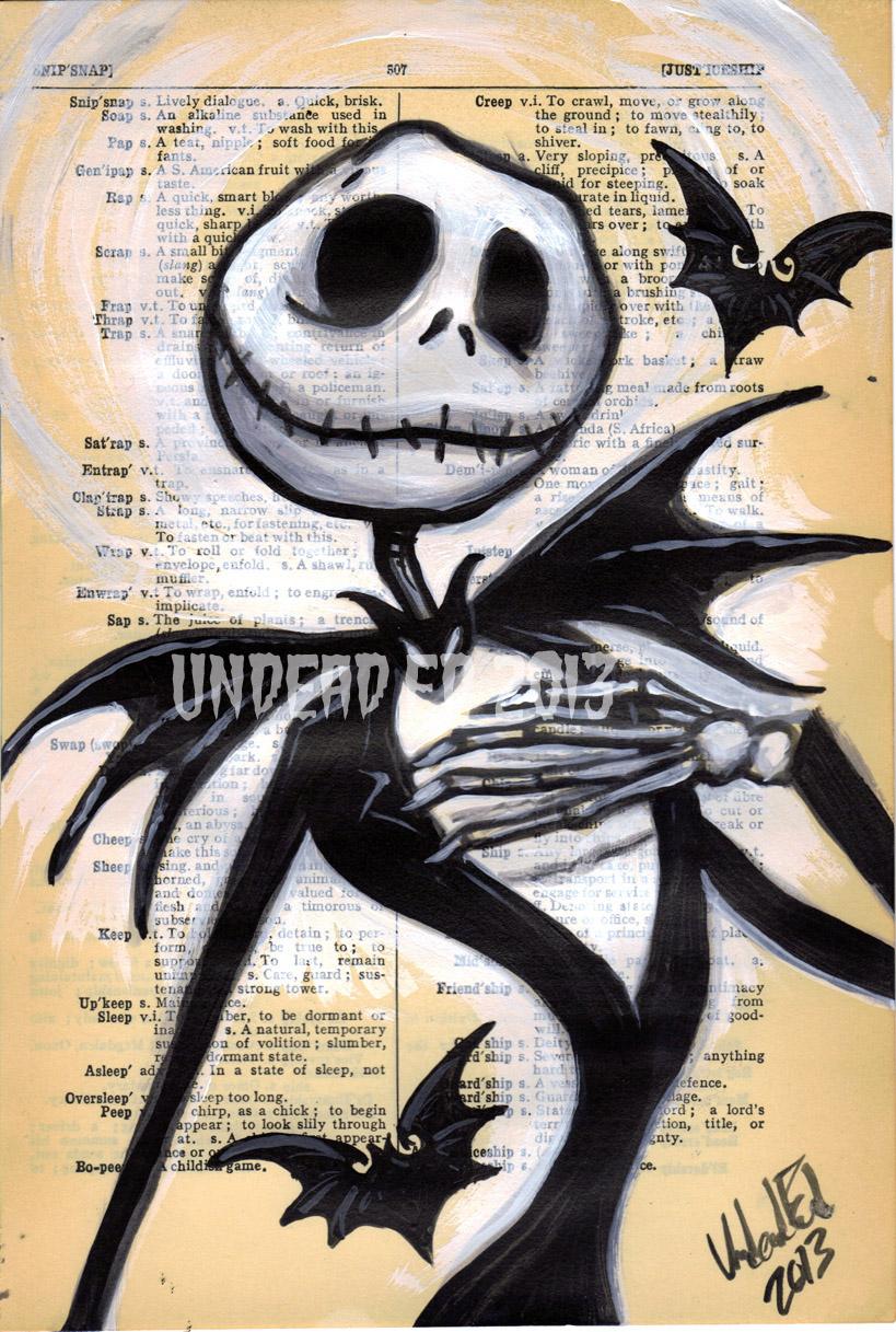 Jack Skellington Dictionary Art by Undead-Art