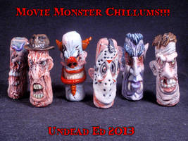 Movie Monster Chillums by Undead-Art