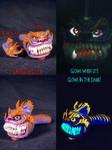 Cheshire Cat Purple Orange Stripes Pipe by Undead