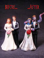Cthulhu Wedding Cake Topper 3 by Undead-Art
