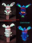 Krankenbunny Flower 14mm Slide by Undead Ed Glows