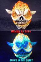 Lost Soul Flaming Skull Doom Pipe 1 by Undead-Art