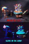 Alice In Wonderland Caterpillar and Mushroom Man P