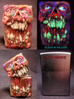 Necro Rot Zippo By Undead Ed Flesh Style 1 by Undead-Art