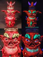 Demon Stash Jar by Undead Ed Glows in the Dark 1 by Undead-Art