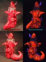 Demon Stash Jar by Undead Ed Glows in the Dark 3 by Undead-Art