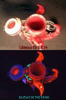 Demon Stash Jar by Undead Ed Glows in the Dark 4 by Undead-Art