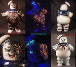 Battle Damage Mr. Stay Puft Bank By Undead Ed Glow