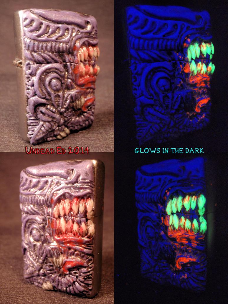 Alien Xenomorph Zippo FLESH STYLE 2 by Undead-Art