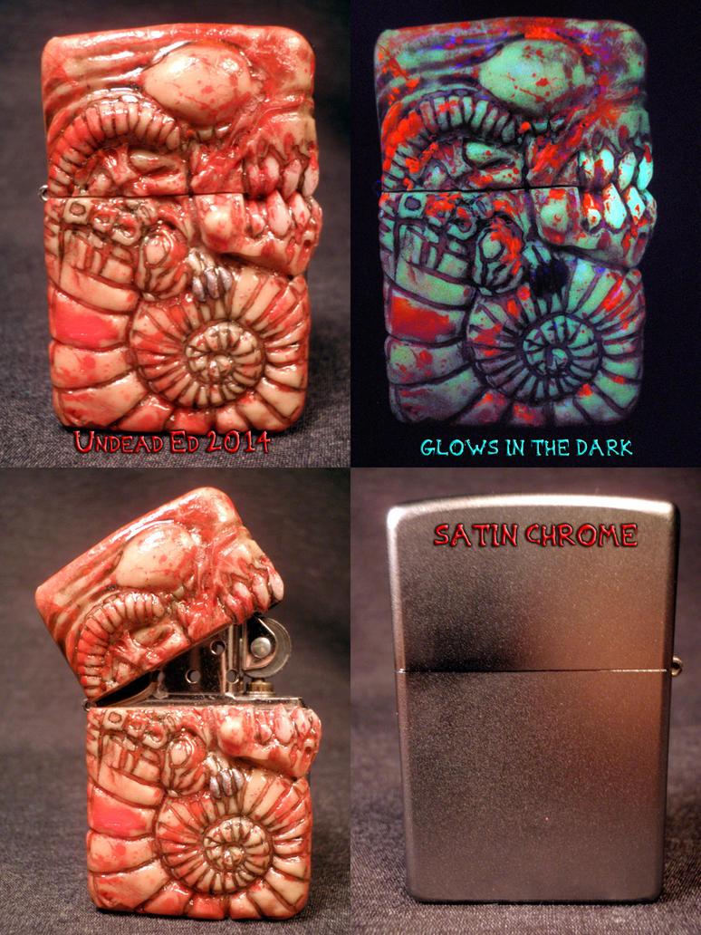 Alien Chestburster Zippo By Undead Ed Flesh Style  by Undead-Art