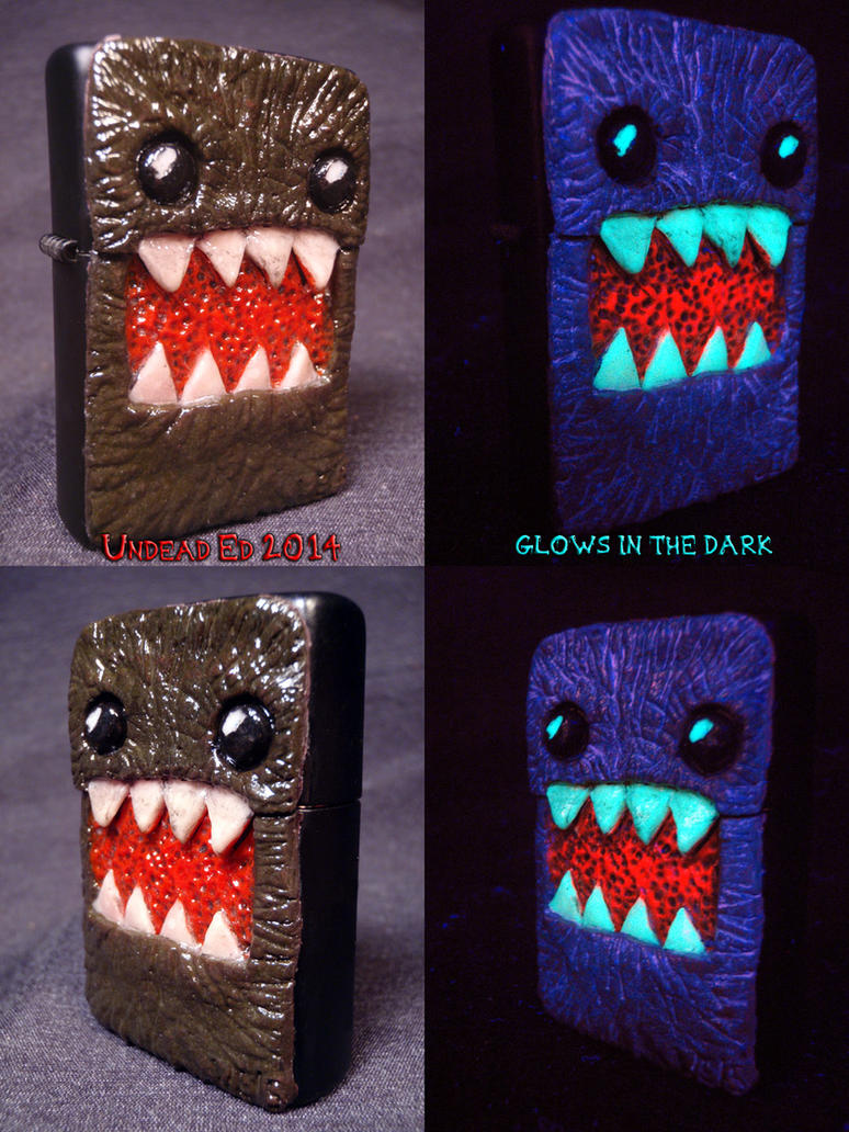 Domo Inspired Zippo by Undead Ed Glows In the Dark by Undead-Art