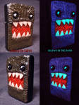 Domo Inspired Zippo by Undead Ed Glows In the Dark