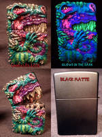 Dragon Zippo By Undead Ed Glows in The Dark 1 by Undead-Art