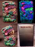 Dragon Zippo By Undead Ed Glows in The Dark 1