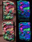 Dragon Zippo By Undead Ed Glows in The Dark 2