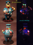 Zombie Simpsons CHIEF WIGGUM by Undead Ed Glows in