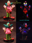 Zombie Simpsons KRUSTY by Undead Ed Glows in the D