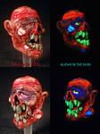 Zombie Bowl 10mm Male Slide by Undead Ed Glows in