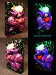 Plasma Slug Splatter Pop Zippo by Undead Ed Glows