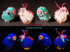 Alien Bunny Hopper by Undead Ed Glows in the Dark  by Undead-Art